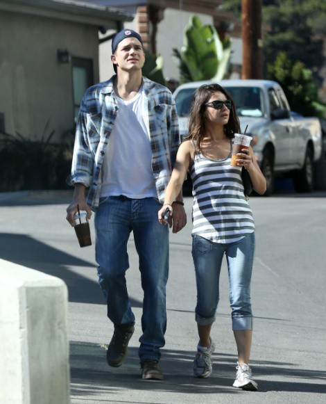 Ashton Kutcher Terrified Mila Kunis is Cheating on Him--Steals Her Phone and Tries to Catch Her!