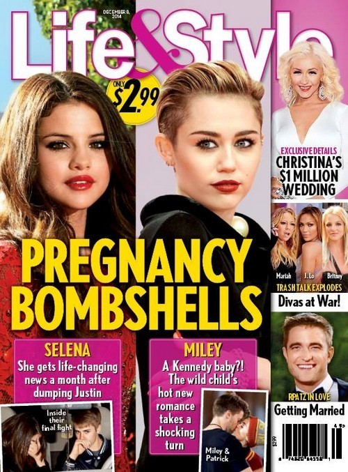 """Miley Cyrus Pregnant With New Kennedy Baby Courtesy of Patrick Schwarzenegger - Rep say """"No"""" (PHOTO)"""