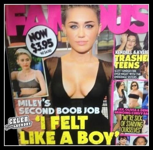 Miley Cyrus Gets Second Boob Job (PHOTO)