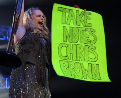 Miranda Lambert Threatens Chris Brown's Life (Video)