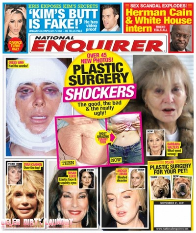 National Enquirer: Plastic Surgery Shockers - The Good, The Bad & The Ugly