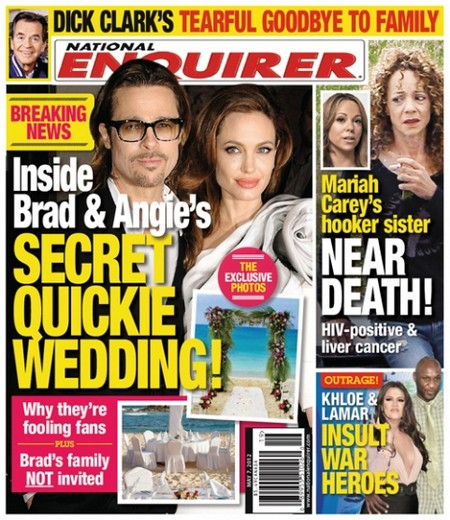 Brad Pitt And Angelina Jolie Already Married With Quickie Wedding (Photo)