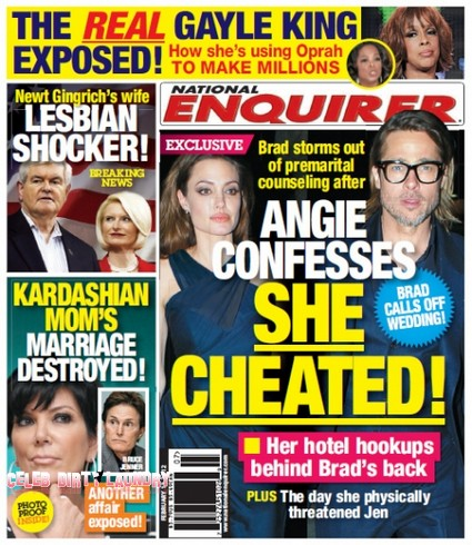 Angelina Jolie Confesses That She Cheated On Brad Pitt (Photo)