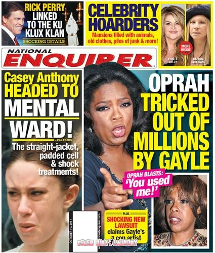 National Enquirer: Oprah Winfrey Tricked Out Of Millions By Gayle