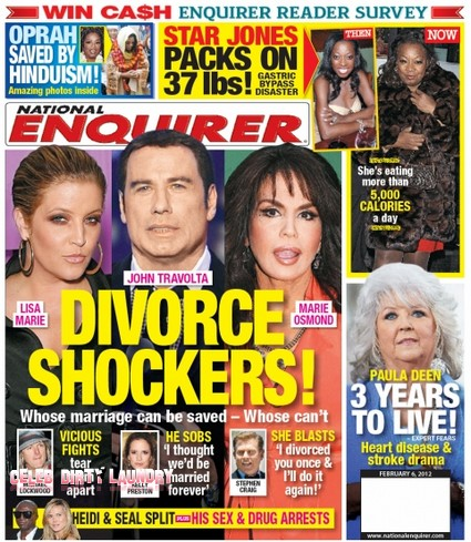 Lisa Marie, John Travolta & Marie Osmond Divorce Shockers (Photo)
