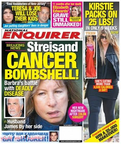 National Enquirer: Barbara Streisand Cancer Bombshell (Photo)