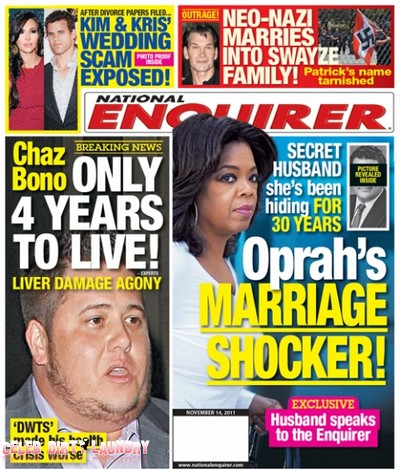 National Enquirer: DWTS' Chaz Bono Has Only Four Years To Live (Photo)