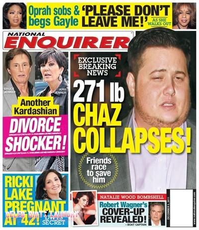 National Enquirer: Chaz Bono Collapses!