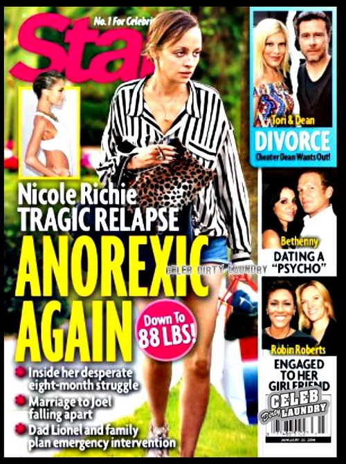 Nicole Richie's Drastic Weight Loss And Spiral Down Into Anorexia (PHOTO)