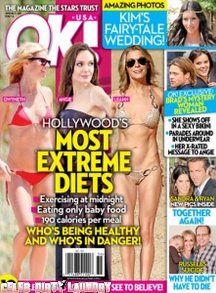 OK! Magazine: Hollywood's Extreme Diets From Angelina Jolie To Gwyneth Paltrow