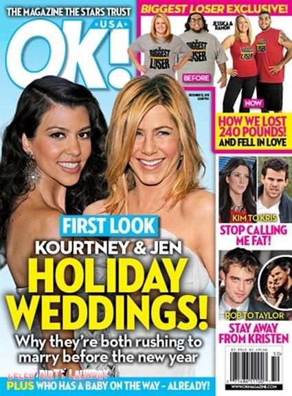 Holiday Weddings For Jennifer Aniston & Kourtney Kardashian (Photo)