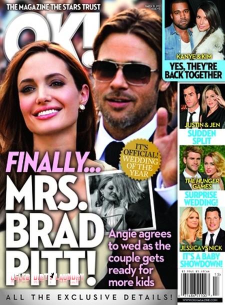 Angelina Jolie to Become Mrs. Brad Pitt!