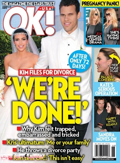OK! Magazine: Kim Kardashian Files for Divorce - What Really Happened