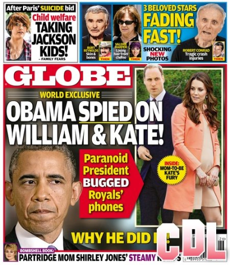 GLOBE: Kate Middleton's and Prince William's Fury At President Obama's Bugging of Royal Phones (PHOTO)