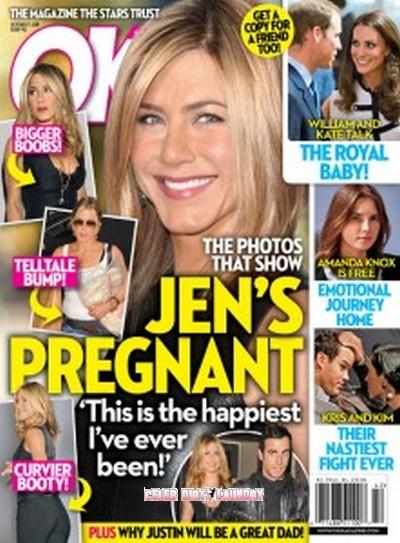 OK! Magazine: Jennifer Aniston Pregnant Photos