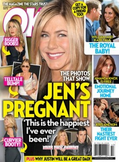 OK! Magazine: Jennifer Aniston Pregnant Photos