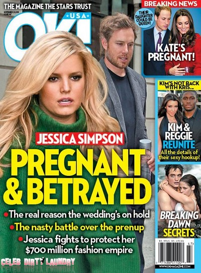 OK! Magazine: Jessica Simpson - Pregnant & Betrayed (Photo)