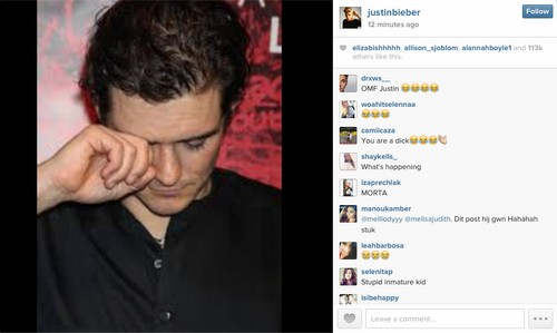 Justin Bieber Taunts Orlando Bloom Crying On Instagram - But Miranda Kerr and Selena Gomez Stay Out Of Fight