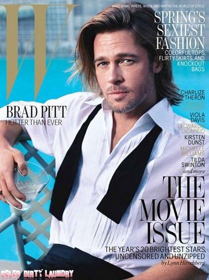 Brad Pitt Hotter Than Ever In W Magazine (Photo)
