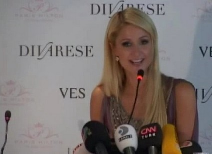 Paris Hilton Gives Press Conference In Istanbul - Explains That Business 'Runs In My Blood'