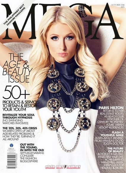 Paris Hilton Looking Amazing On The Cover of Mega Magazine's Age & Beauty Issue