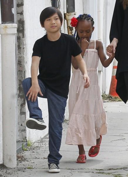 Angelina Jolie's Son, Pax Jolie-Pitt, Shares Her Dark Side, Hates Santa Claus 0103
