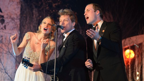 Kate Middleton Missing as Prince William Sings 'Livin' On A Prayer' With Taylor Swift And Jon Bon Jovi - VIDEO