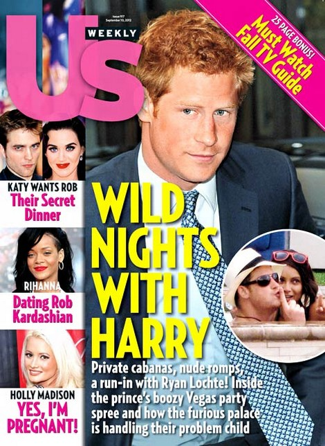 Fellow Partier Claims Naked Price Harry Had Vodka and Women On His Mind