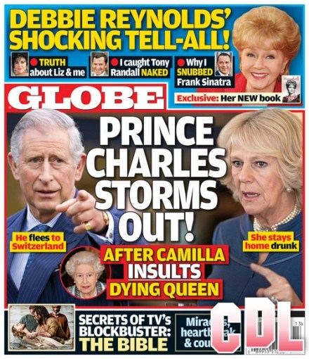 GLOBE: Prince Charles Storms Out After Camilla Parker-Bowles Insults Dying Queen Elizabeth (Photo)