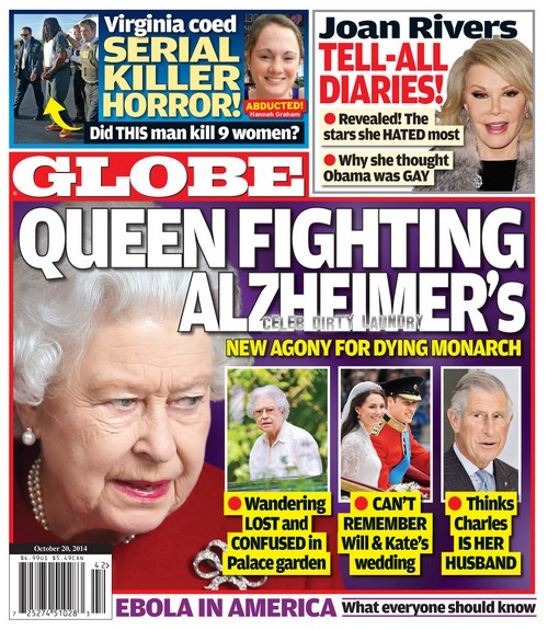 GLOBE: Queen Elizabeth Fighting Alzheimer's - Can't Remember Kate Middleton and Prince Williams Wedding - Report (PHOTO)