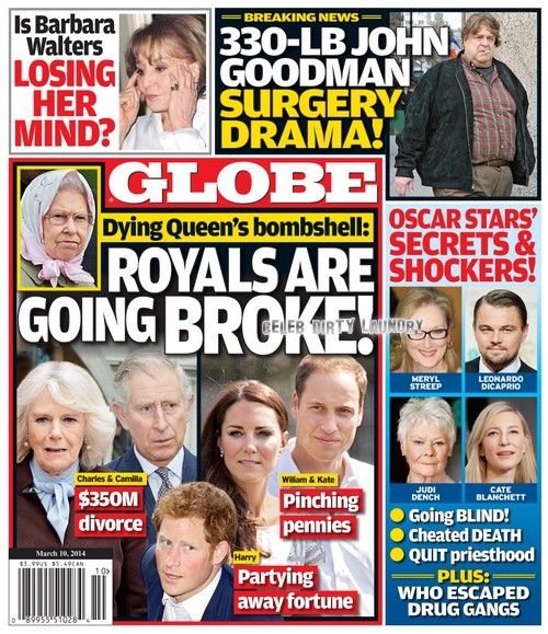 GLOBE: Dying Queen Elizabeth Panics - Royals Going Broke and Camilla Parker-Bowles The Biggest Problem (PHOTO)