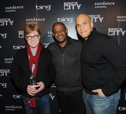 Robert Redford, Forest Whitaker, Mayor Cory Booker and Rosie O'Donnell at Bing Bar