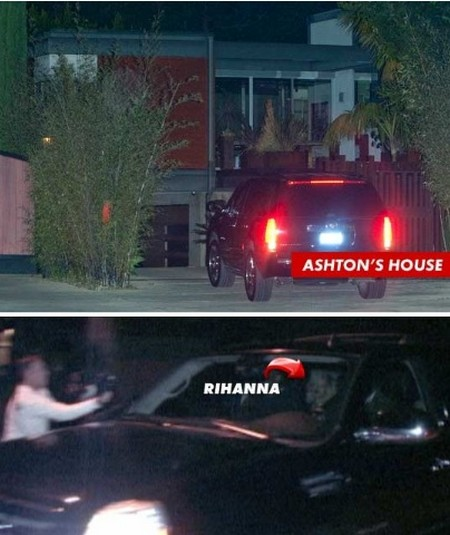 Rihanna Goes To Ashton Kutcher's Home For Late Night Sex (Photo)