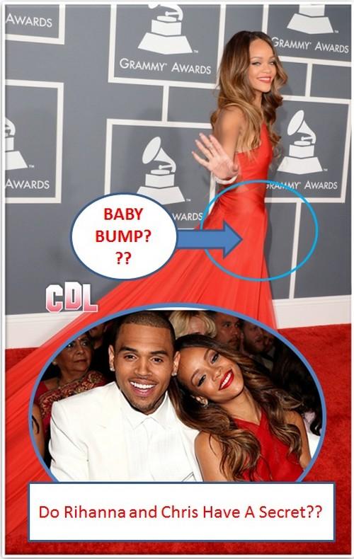 Rihanna Pregnant: Baby Bump At Grammys? (Photo)