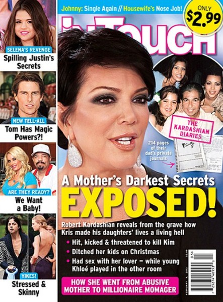 Kris Jenner Revealed As Child Abusing Slut In Robert Kardashian's Diary (Photo)