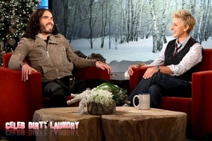 Russell Brand Sits Down With Ellen – And Defends His Marriage