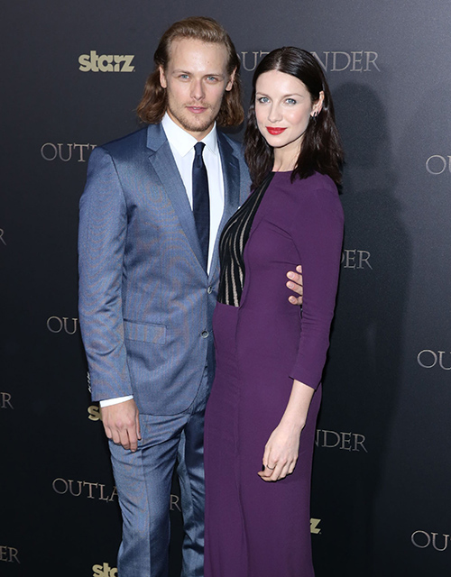 Outlander stars dating Sam Heughan Caitriona Balfe Mackenzie Mauzy on feud