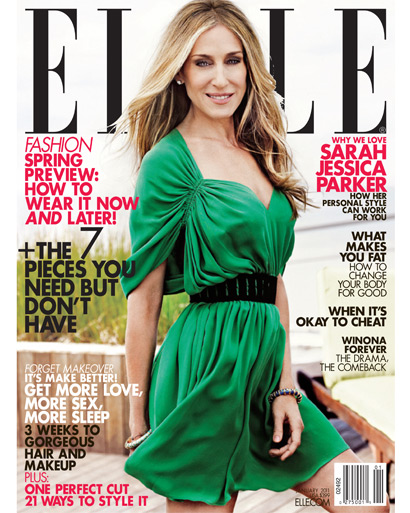 Sarah Jessica Parker On Aging & Her Twins in the Jan. 2011 Issue Of Elle