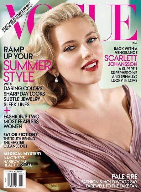 Scarlett Johansson Talks To Vogue About Her Hacked Cell Phone Nudes (Photos)