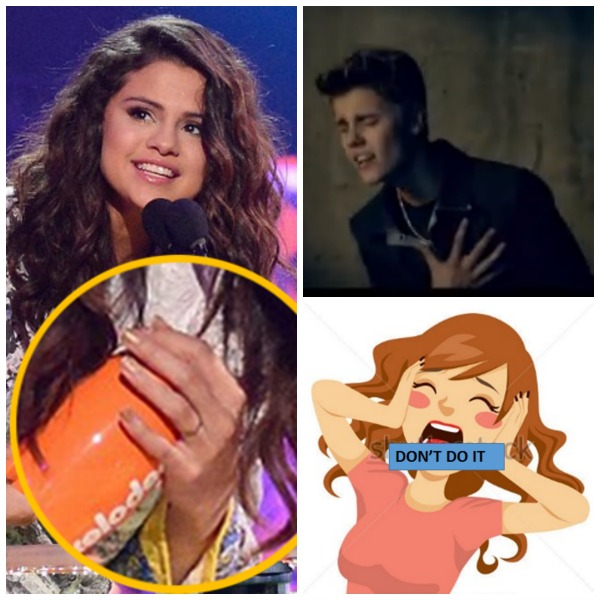 Selena Gomez Wears a Gold Engagement Ring From Justin Bieber - Are They Engaged? (PHOTO)