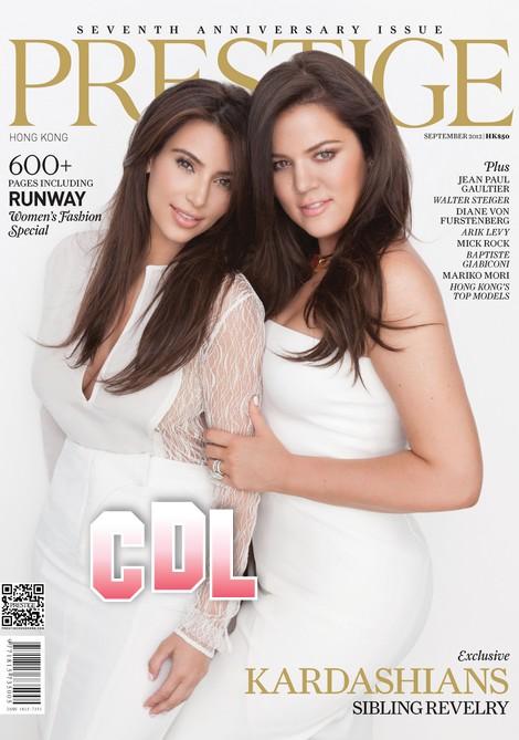 Kim and Khloe Kardashian Prestige Hong Kong Cover - Is Khloe Pregnant? (Photo)