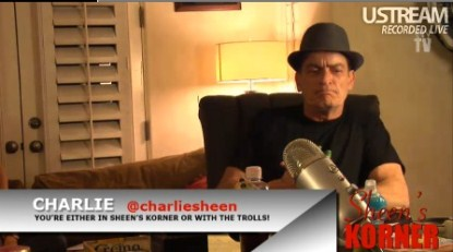 Charlie's Sheen's Winning So Hard On First Ustream Webcast That He Is Losing