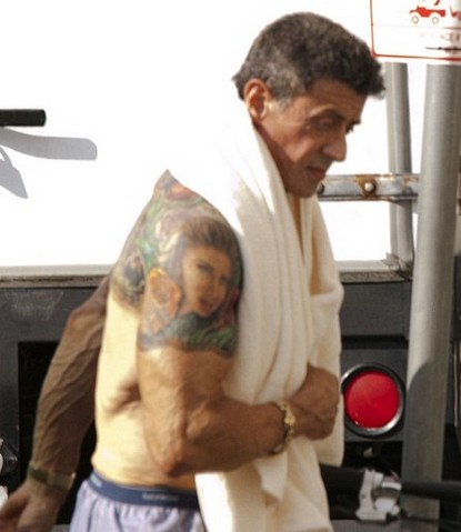Steroid Junkie Sylvester Stallone On Tattoo Craze