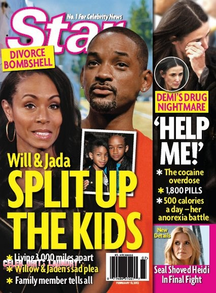 Will And Jada Smith Divide Up Their Kids For Divorce