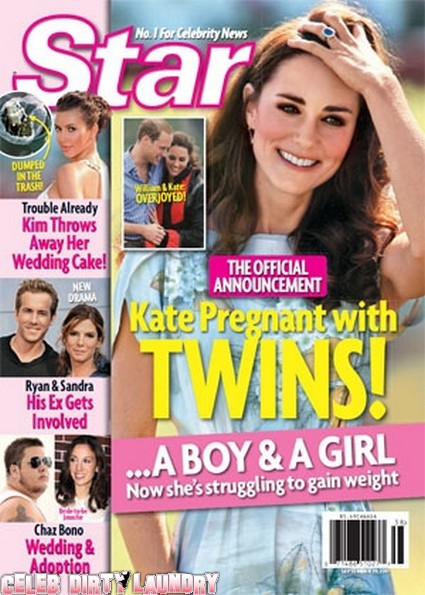 Star Magazine: Kate Middleton Pregnant With Twins!