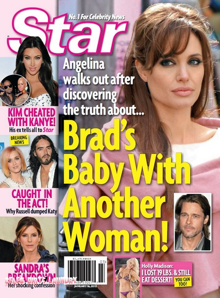 Angelina Jolie Walks Out On Brad Pitt Over His Baby With Another Women (Photo)