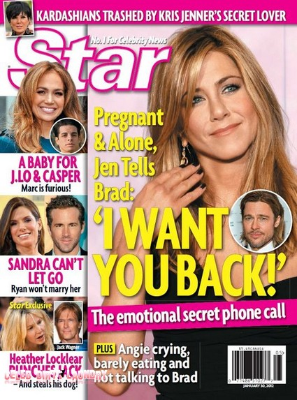 Pregnant Jennifer Aniston Begs Brad Pitt To Take Her Back (Photo)