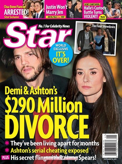 Star Magazine: Demi Moore & Ashton Kutcher's $290 Million Divorce
