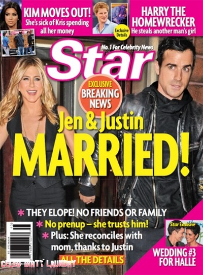 Star Magazine: Exclusive! Jennifer Aniston & Justin Theroux Married (Photo)