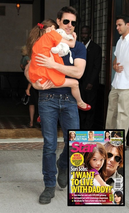 Suri Cruise Sobs 'I Want To Live With Daddy!'